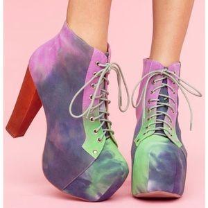 Jeffrey Campbell Lita Pastel Tye Dye Platform Boot